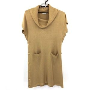 Calvin Klein Button Side Sweater Dress Size Large